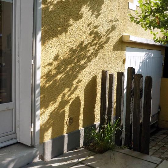 terrasse cour petit jardin