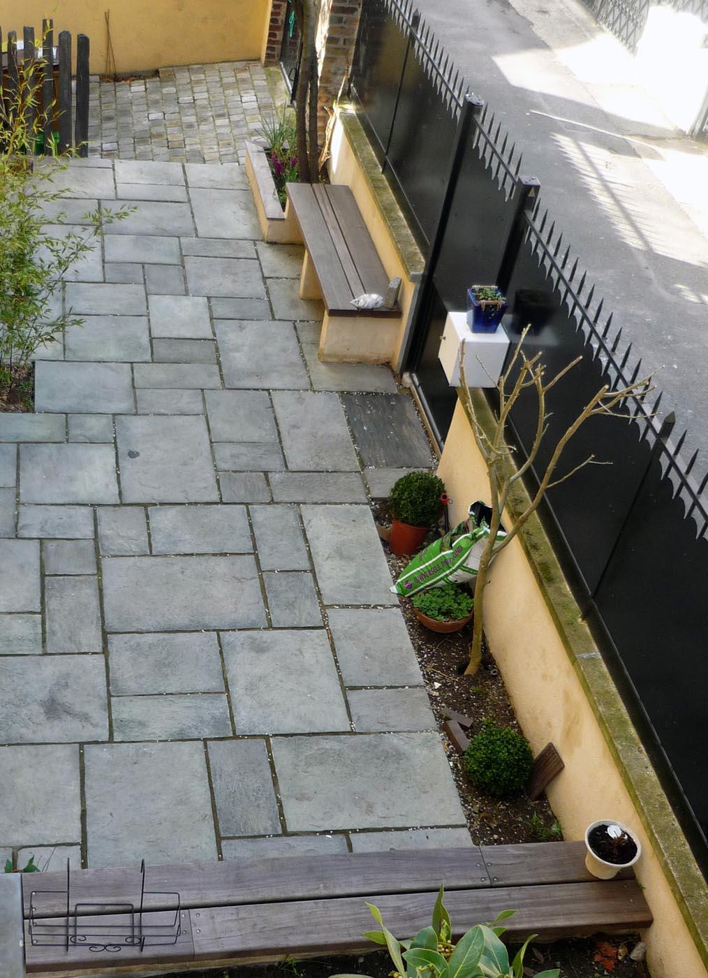 Piquet En Ardoise Bois Jardin jardin patio pour maison de ville (92) | jardin velours
